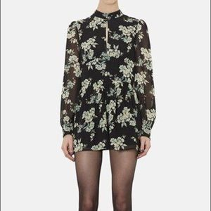 TopShop Floral Long Sleeve Romper Size 8